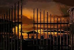 Gate Ajar Night