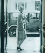 1920s Woman in Doorway
