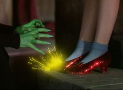 Ruby slippers witch hands