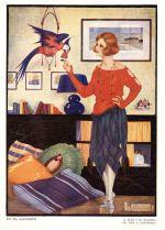 1920s Woman Parrot