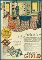 1928 green kitchen ad