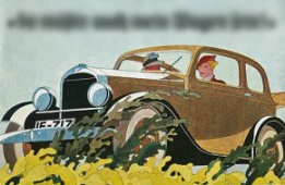1920s German car ad