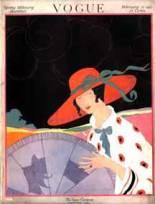 1920s Vogue red hat