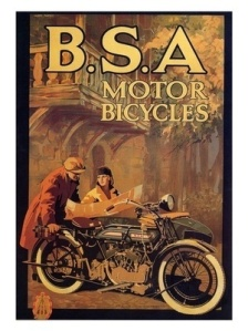 1920s BSA Motorcycle ad