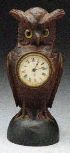 1920s Owl Clock