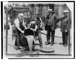 Alcohol into Sewer 1921 Library of Congress