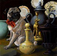 Vintage Pug painting