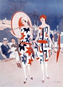1920s red white blue