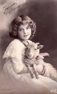 Vintage Girl Goat