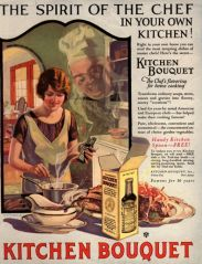 Vintage kitchen bouquet ad