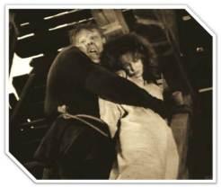 """The Hunchback of Notre Dame"" (1923) Quasimodo claims sanctuary for Esmeralda."