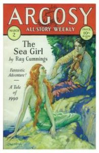 Argosy Weekly Story Magazine The Sea Girl Ray Cummings