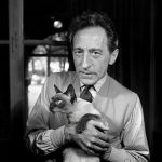 Jean Cocteau with Karoun