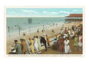 Savannah Beach postcard