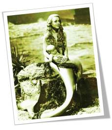 VIntage Mermaid and baby