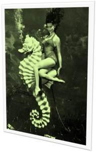 Vintage Mermaid Seahorse