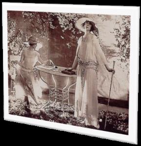 1920s two women garden