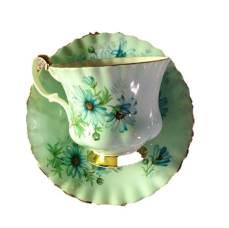 Daisy cup saucer vintage