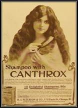 Vintage shampoo ad