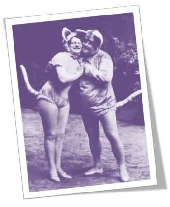 1920s Vaudeville Cats postcard