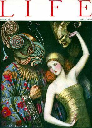 1923 Life woman devilish man masks