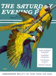 1939 Saturday Evening Post Parrots