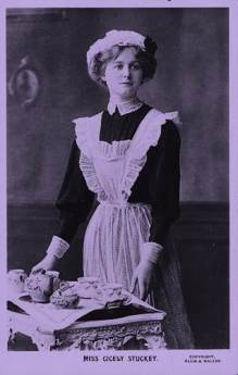 1900 Maid with tray
