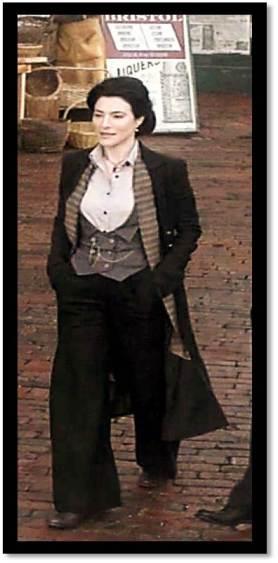 Jaime Murray as the woman who wears trousers