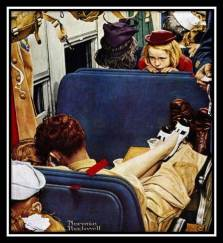Rockwell Girl on Train