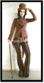 Steampunk Woman pants