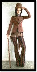 Steampunk Woman pants