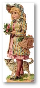 Victorian girl w cat