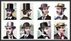 Victorian men hats