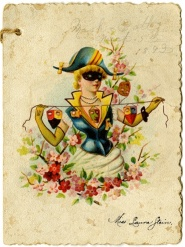 1891 Masquerade dance card