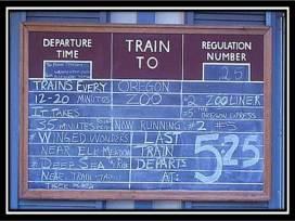 Train schedule Blue