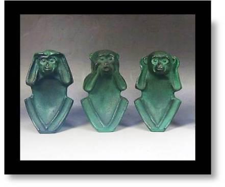 Wise Monkeys statues