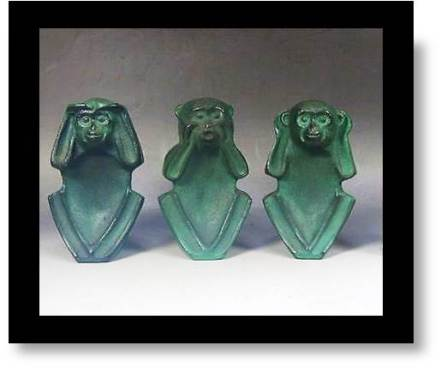 Wise Monkeys statues