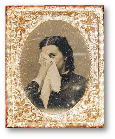 1860s Woman Handkerchief tintipe