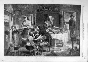 1862 Pancake Tossing drawing