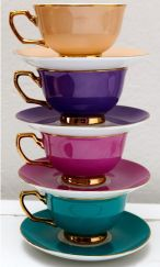 color teacups