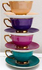 color teacups