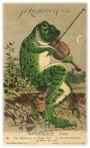 Frog Handkerchief Soap ad