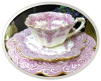 Mauve teacup Wileman Co 1893