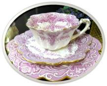 Mauve teacup Wileman Co 1893