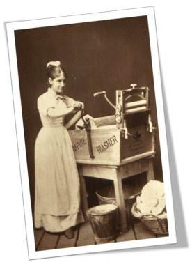 1880 Woman laundry