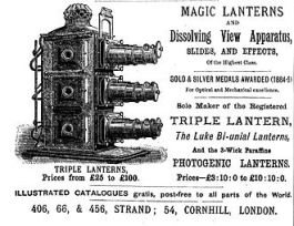 Three slide projector with dissolve transition (1886)