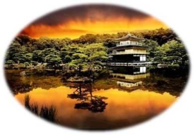 Kinkaku-ji Temple Sunset
