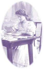 Lady writing letters