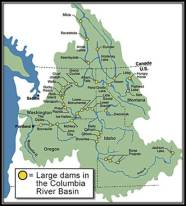 Map Columbia River Basin Lg Dams