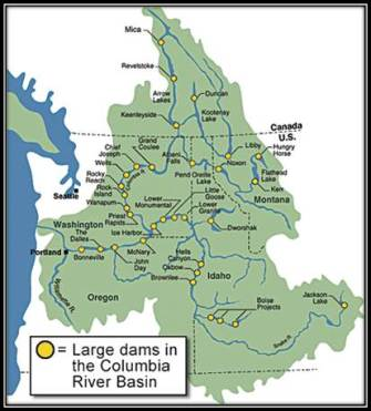 Map Columbia River Basin Lg Dams